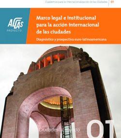 Marco legal e institucional para la acción internacional de las ciudades.